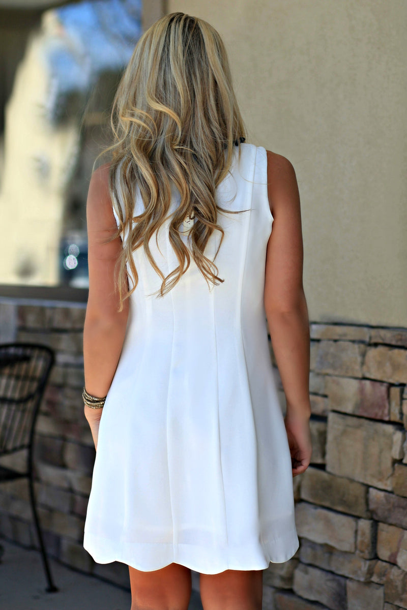 Stefanie Dress, White
