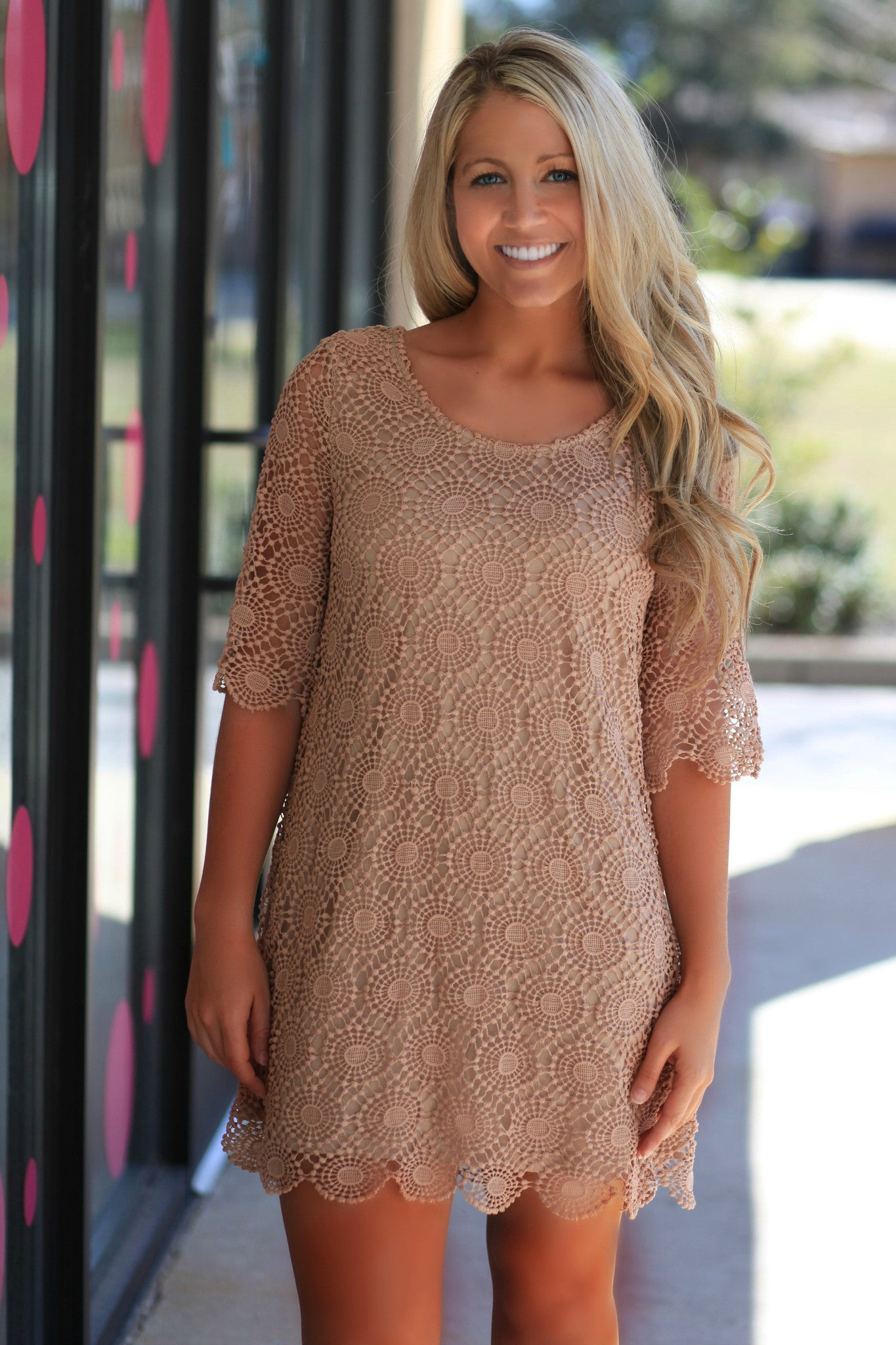 Lane Dress, Taupe