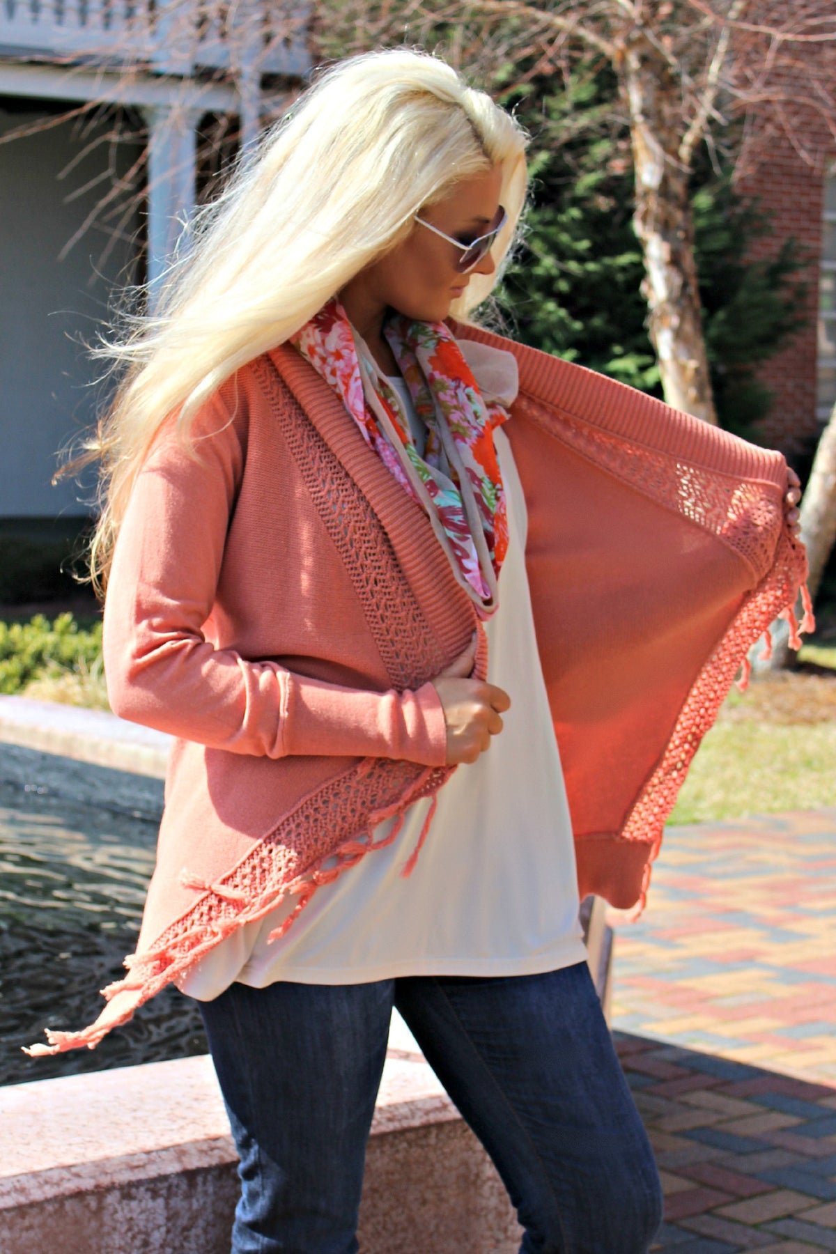 Ivy Jane: April Cardigan, Coral