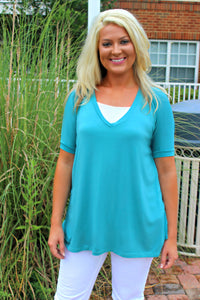 Piko: Knitted Blouse, Teal