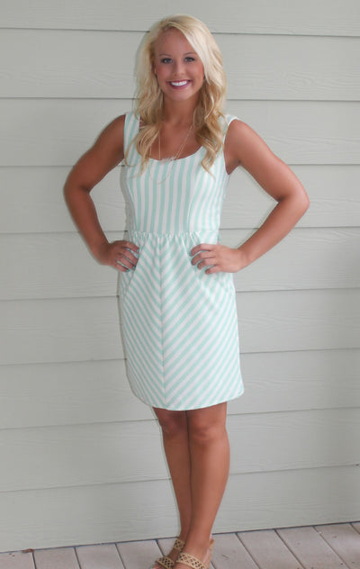Judith March: Roxanne Dress, Mint and Ivory