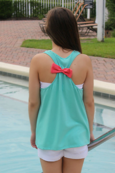 Anchor Bow Top, Mint