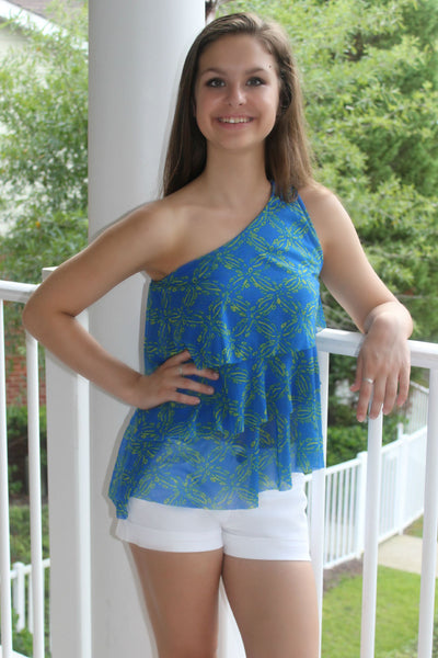 Sweat Pea: Grace Top, Blue