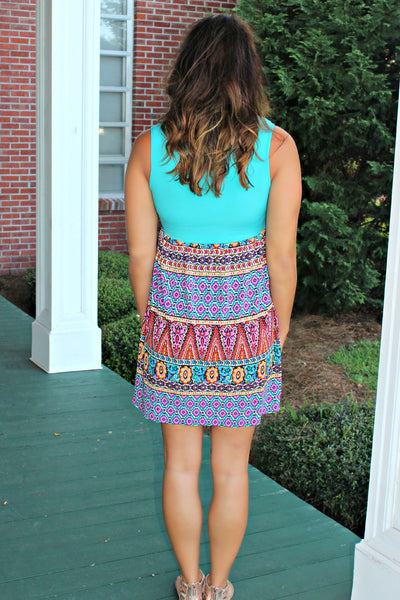 Judith March: Gypsy Soul Dress, Turquoise