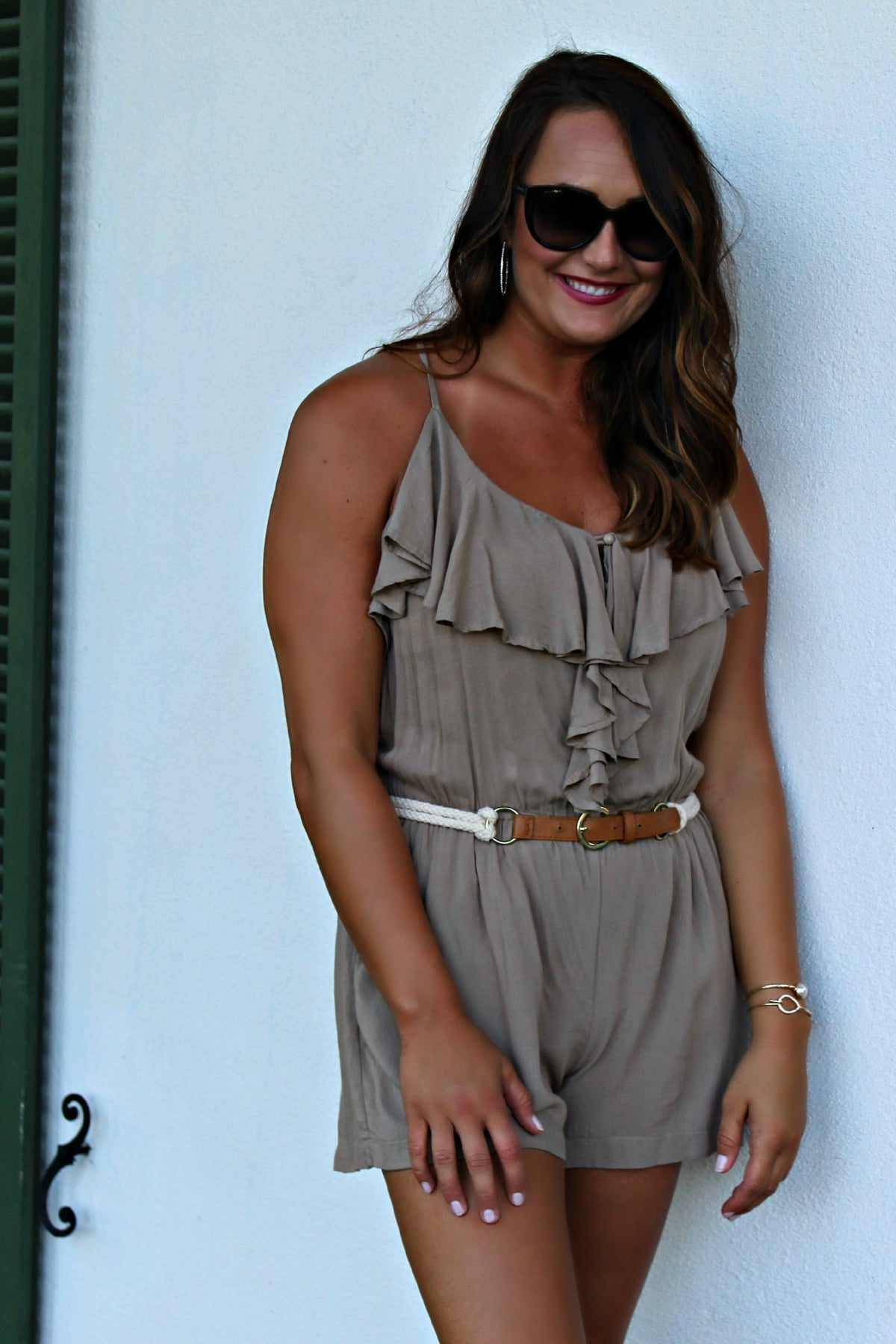 McKenna Romper, Brown