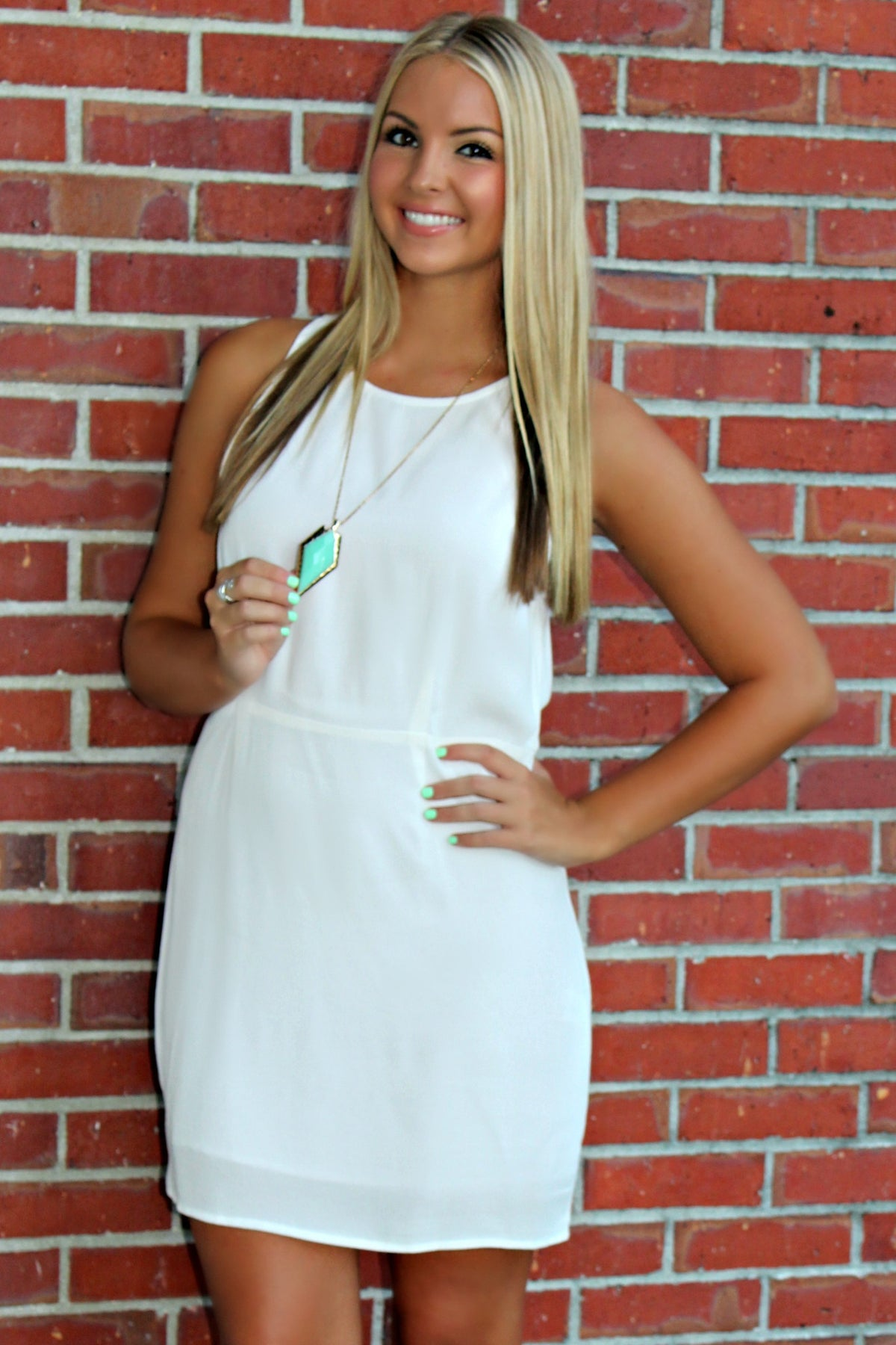 Mink Pink: Upstate Dress, White