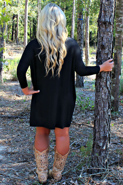 Knitted Piko Dress, Black