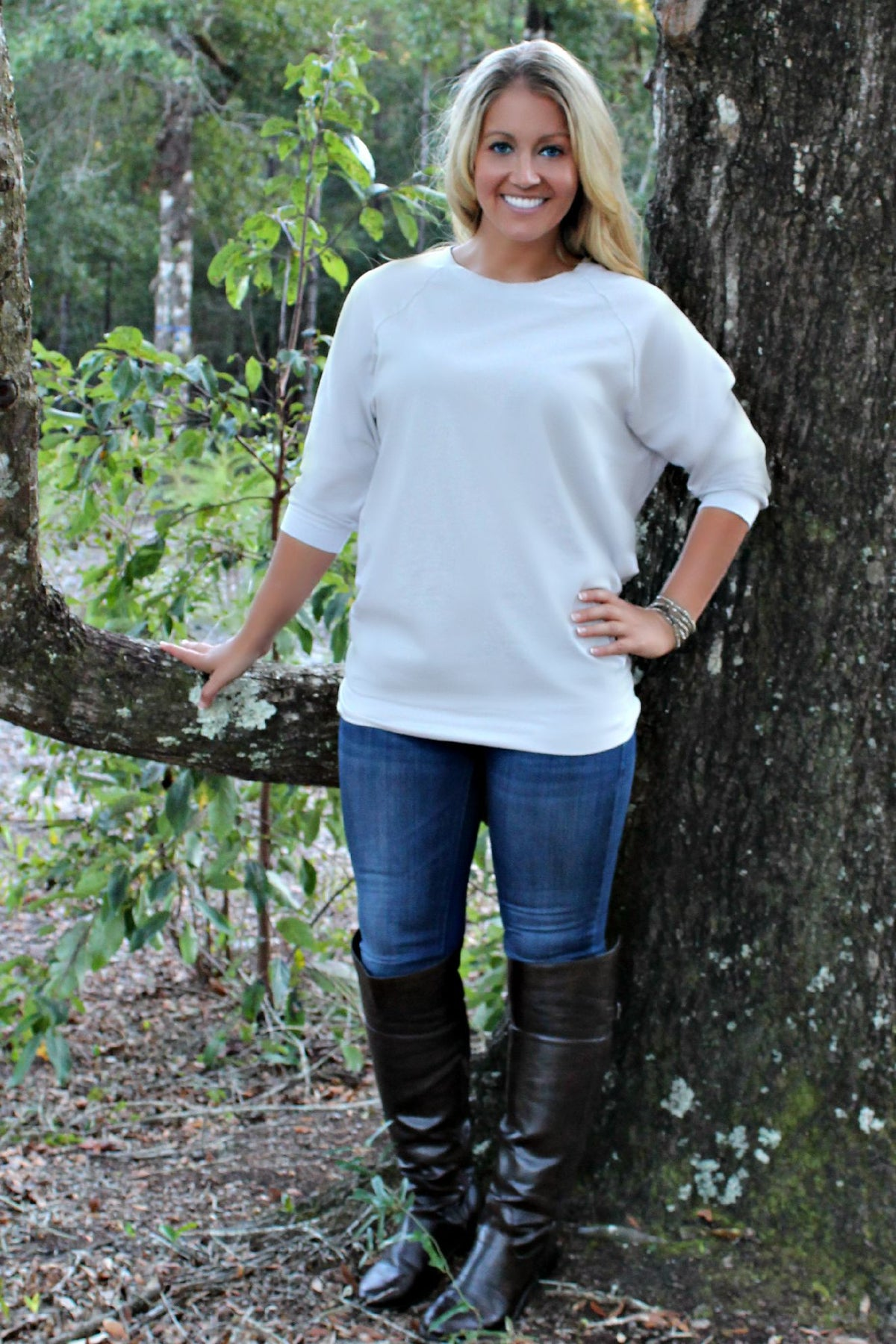 Slouchy Tunic, Gray