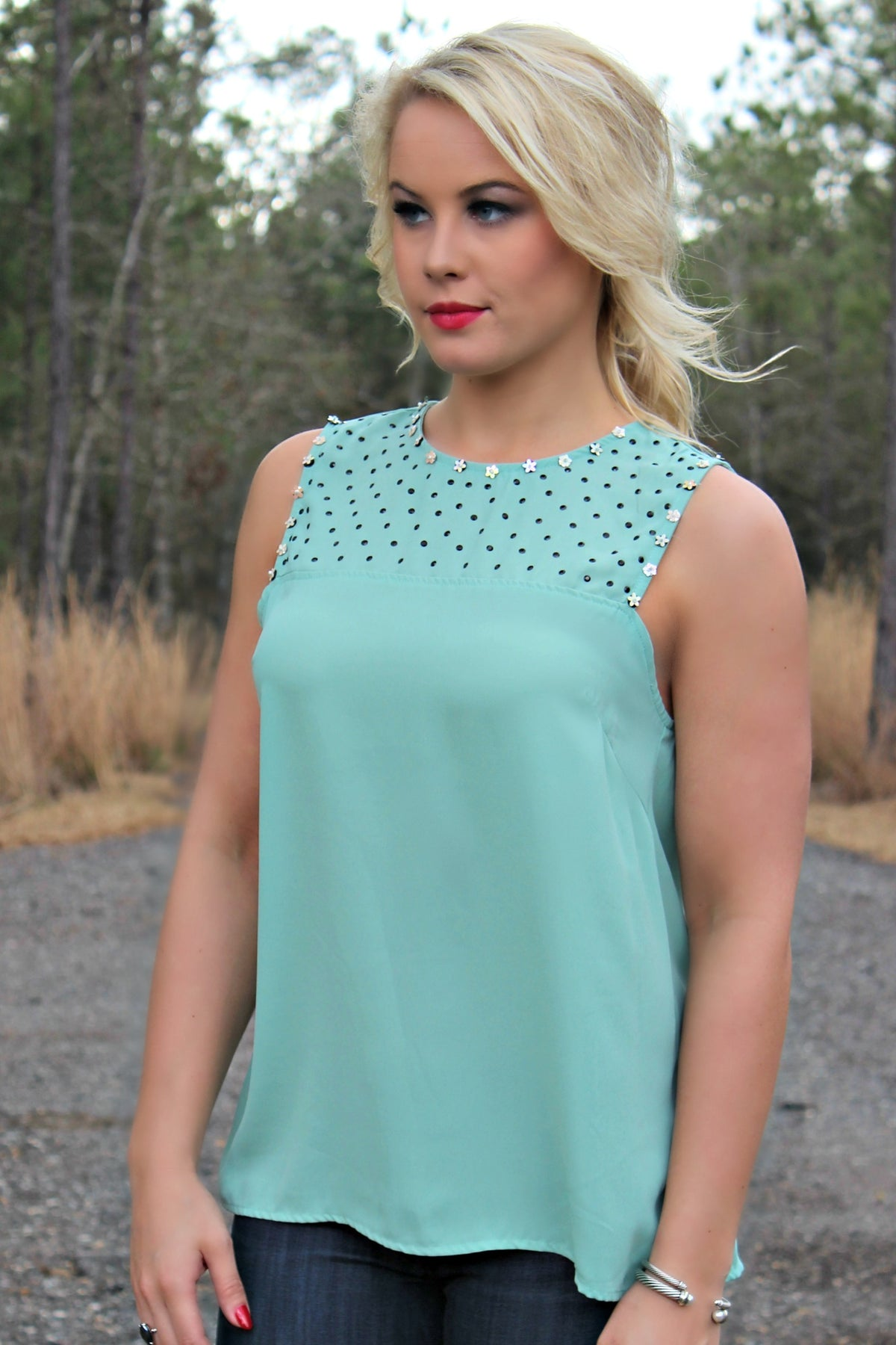 Karlie: Talia Top, Mint