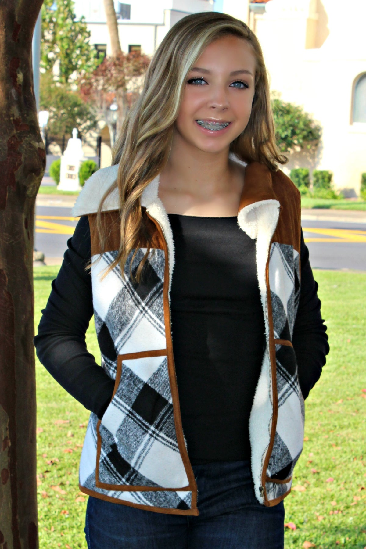 Judith March: Flannel Vest, Plaid