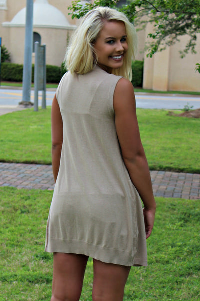 Ivy Jane: Lexie Sweater Vest, Taupe