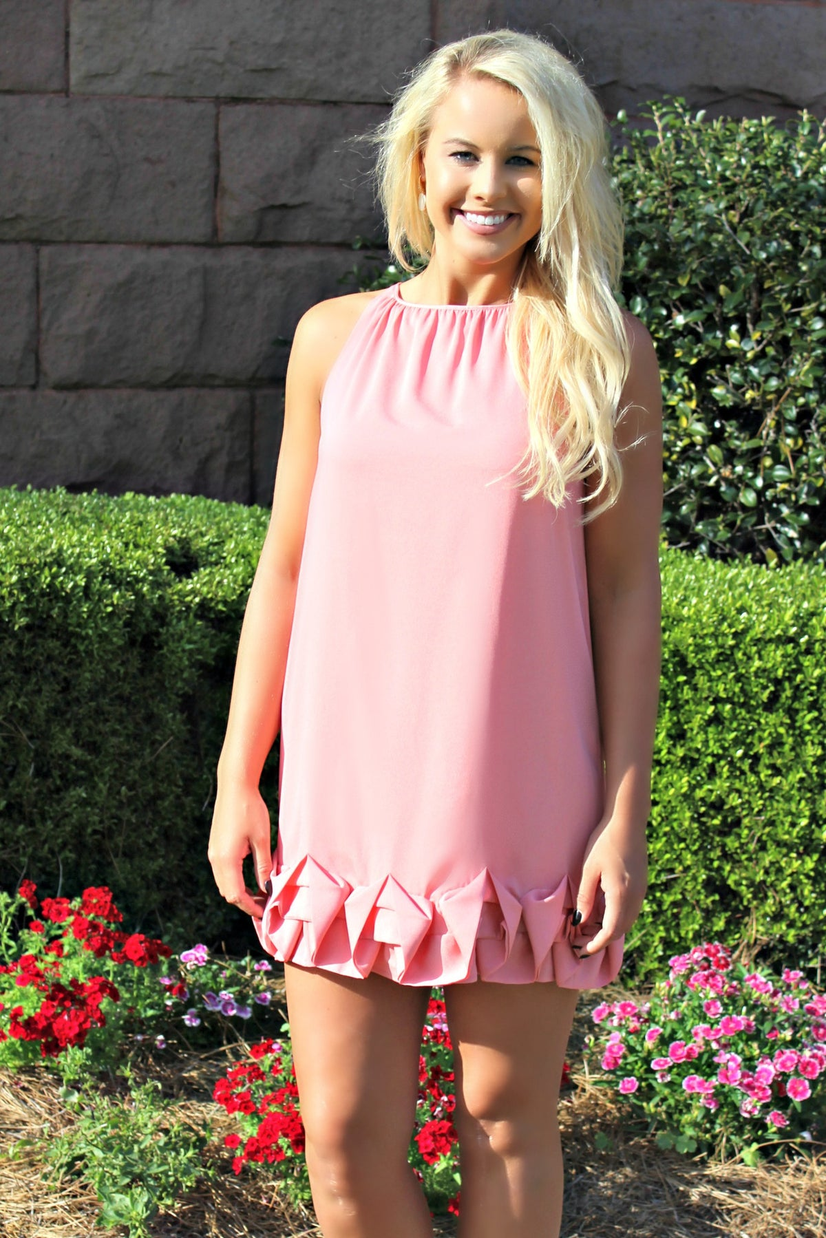Kensie: Hillary Dress, Salmon