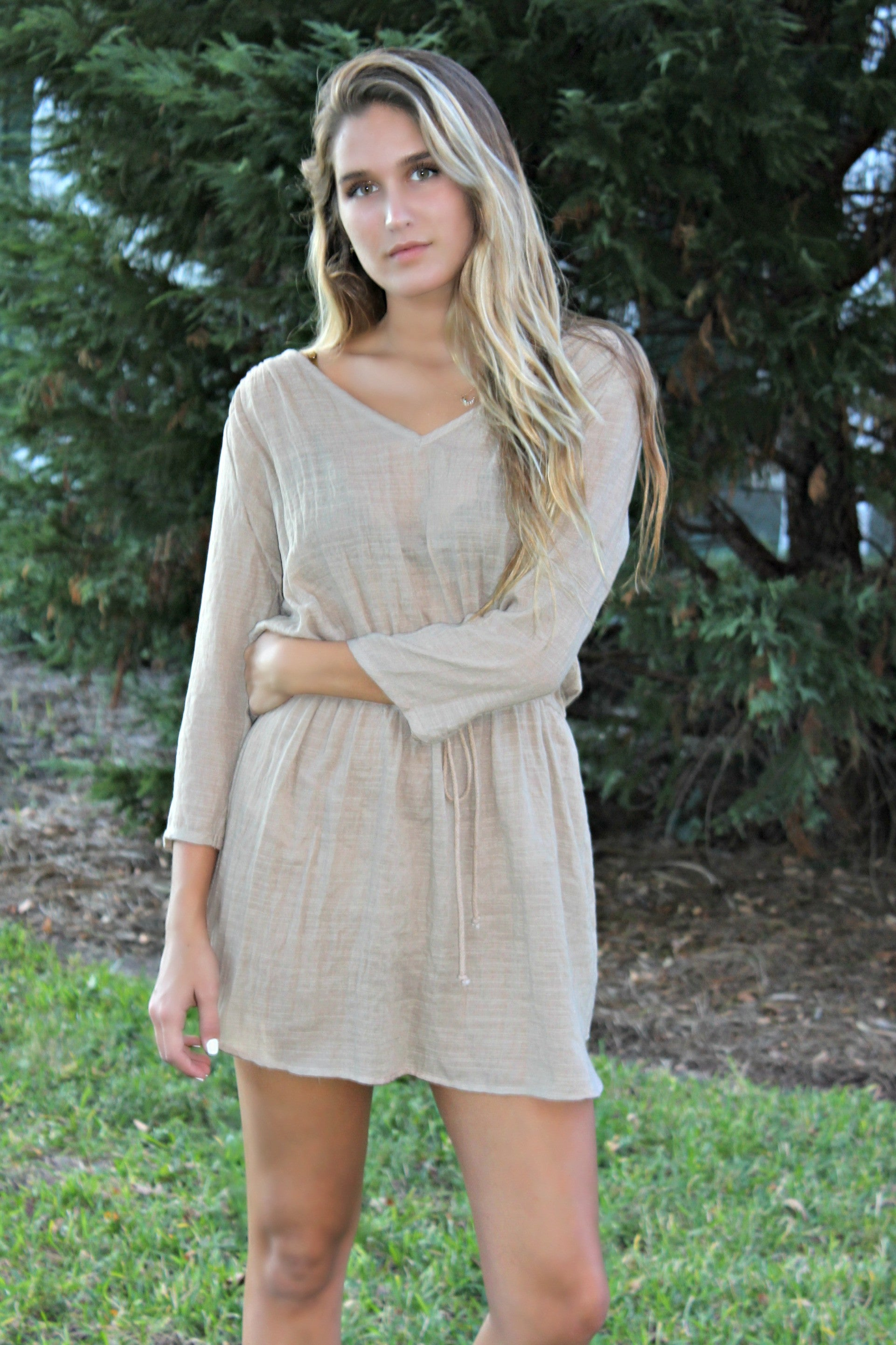Glam: Kay Dress, Tan