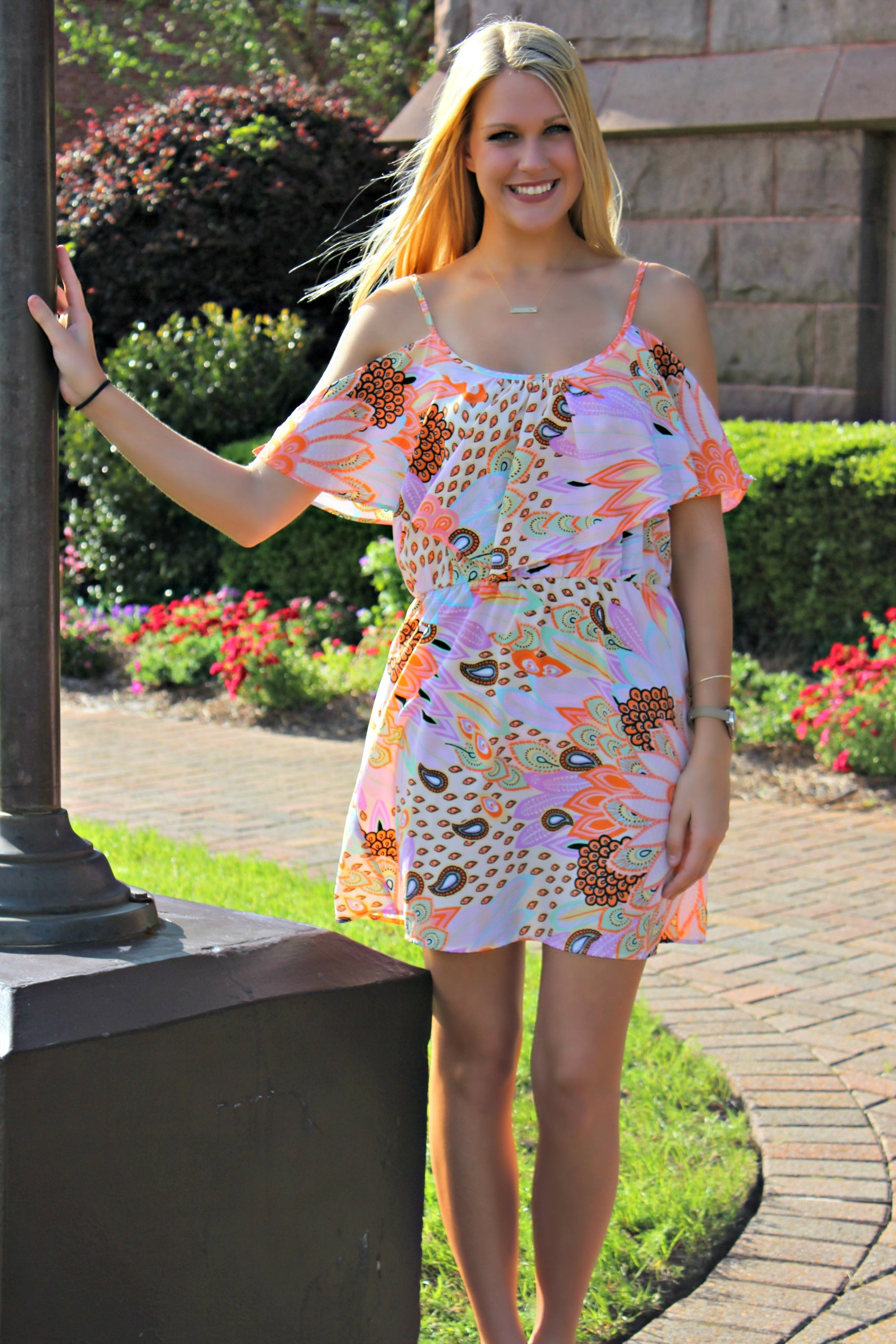 Glam: Lyza Floral Dress, Multi