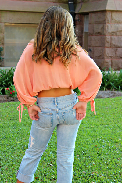Mink Pink: Lucie Blouse, Peach