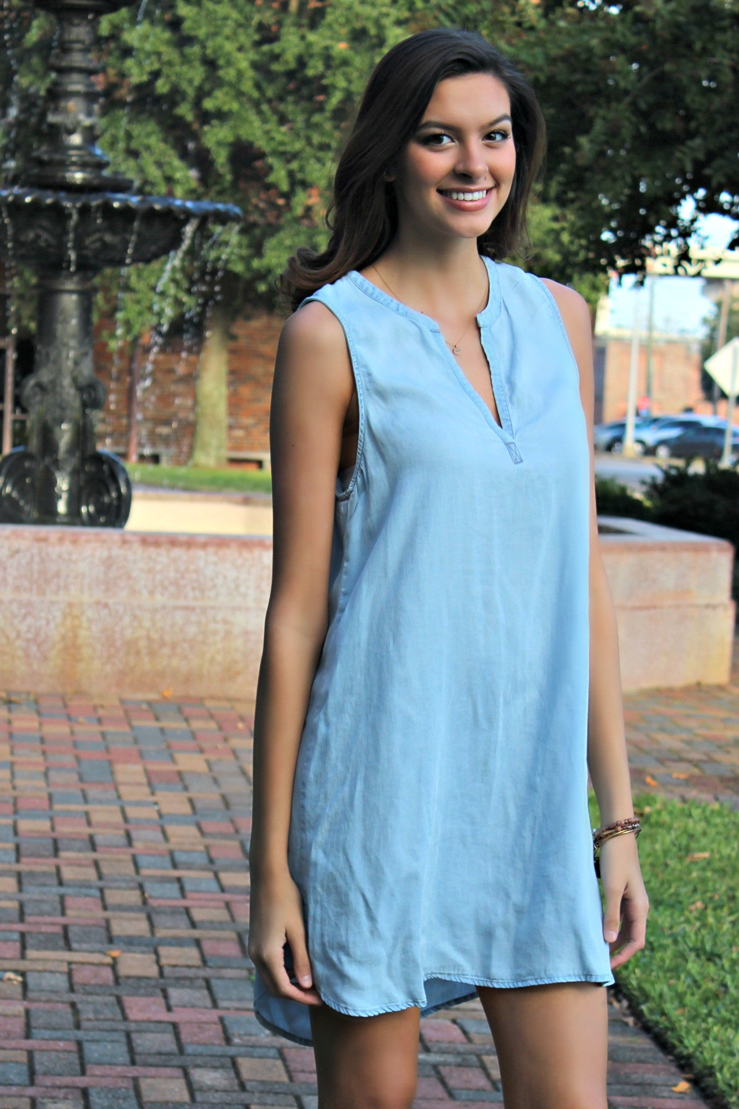 Glam: Baby Blue Dress, Light Denim