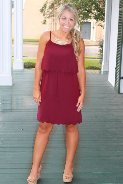 Gail Dress, Burgundy
