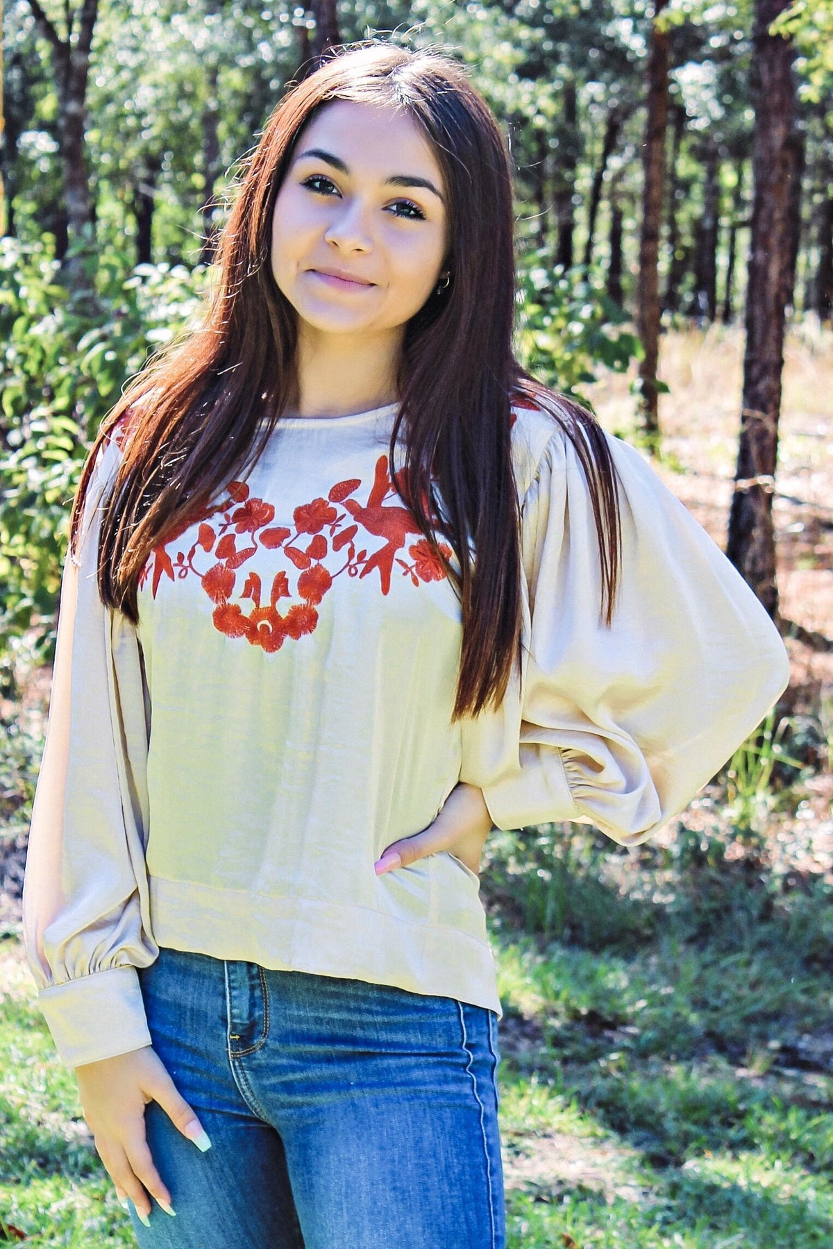 Ivy Jane: Mindy Blouse, Taupe