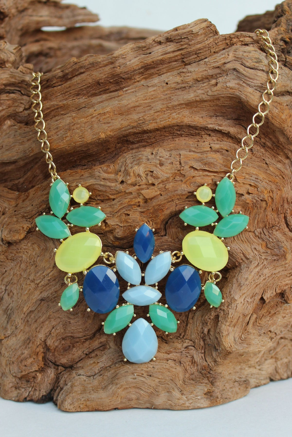Marquise Bib Necklace, Multi