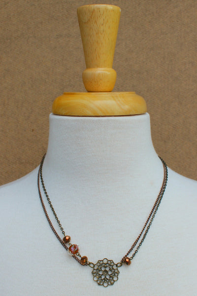 Dawna Lee Jewelry: Double Strand Necklace, Gold