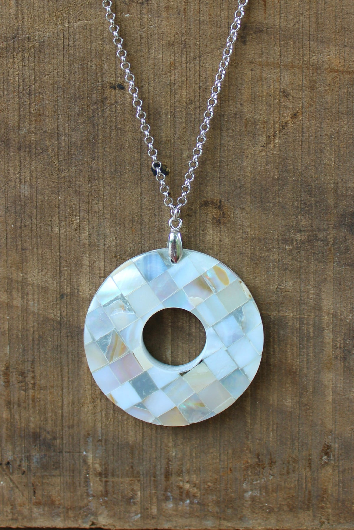 Mosaic Necklace, Silver