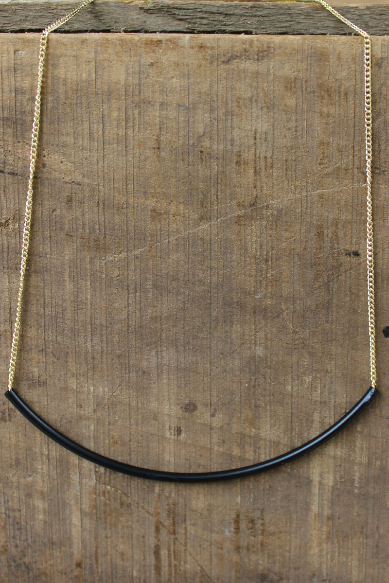 Balance Bar Necklace, Black