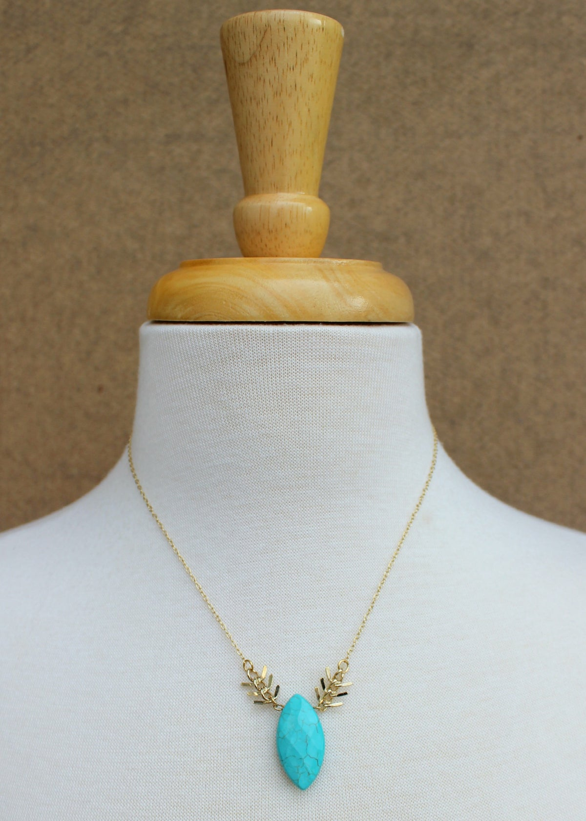 Fletching Necklace, Turquoise