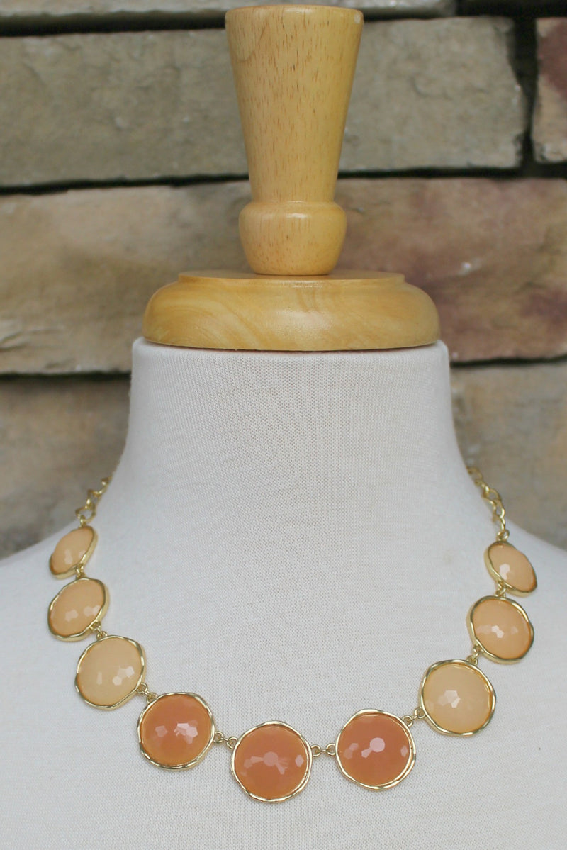 Blended Tone Necklace, Nude