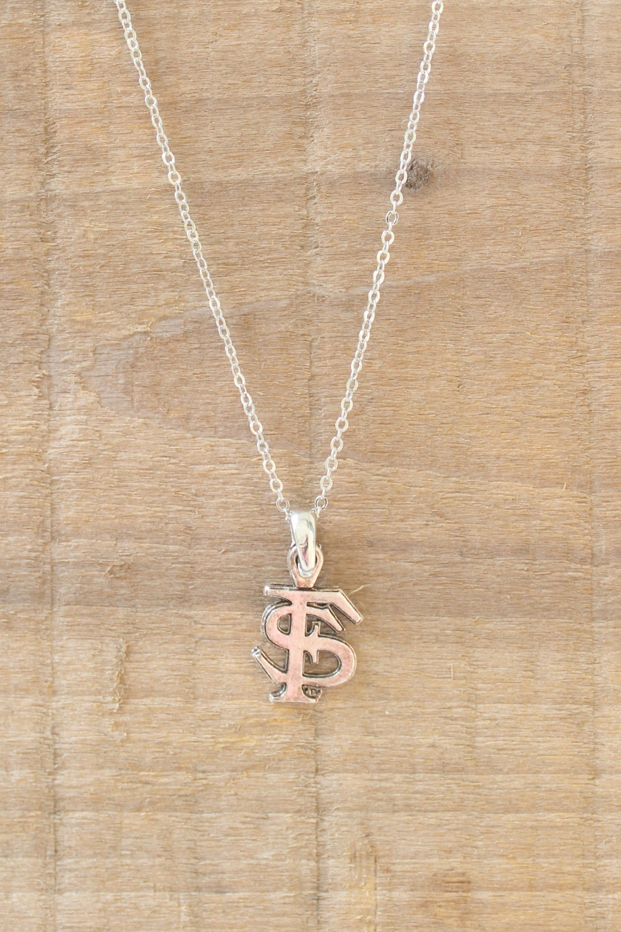 FSU Necklace, Silver