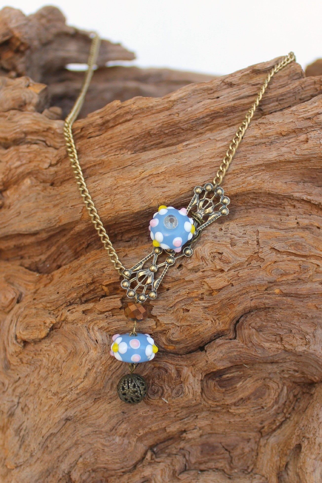 Dawna Lee Victorian Necklace, Blue
