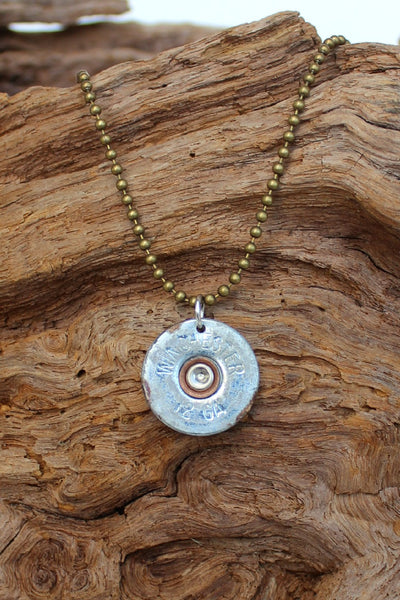 Lizzy J's Shotgun Shell Vintage Necklace, Silver