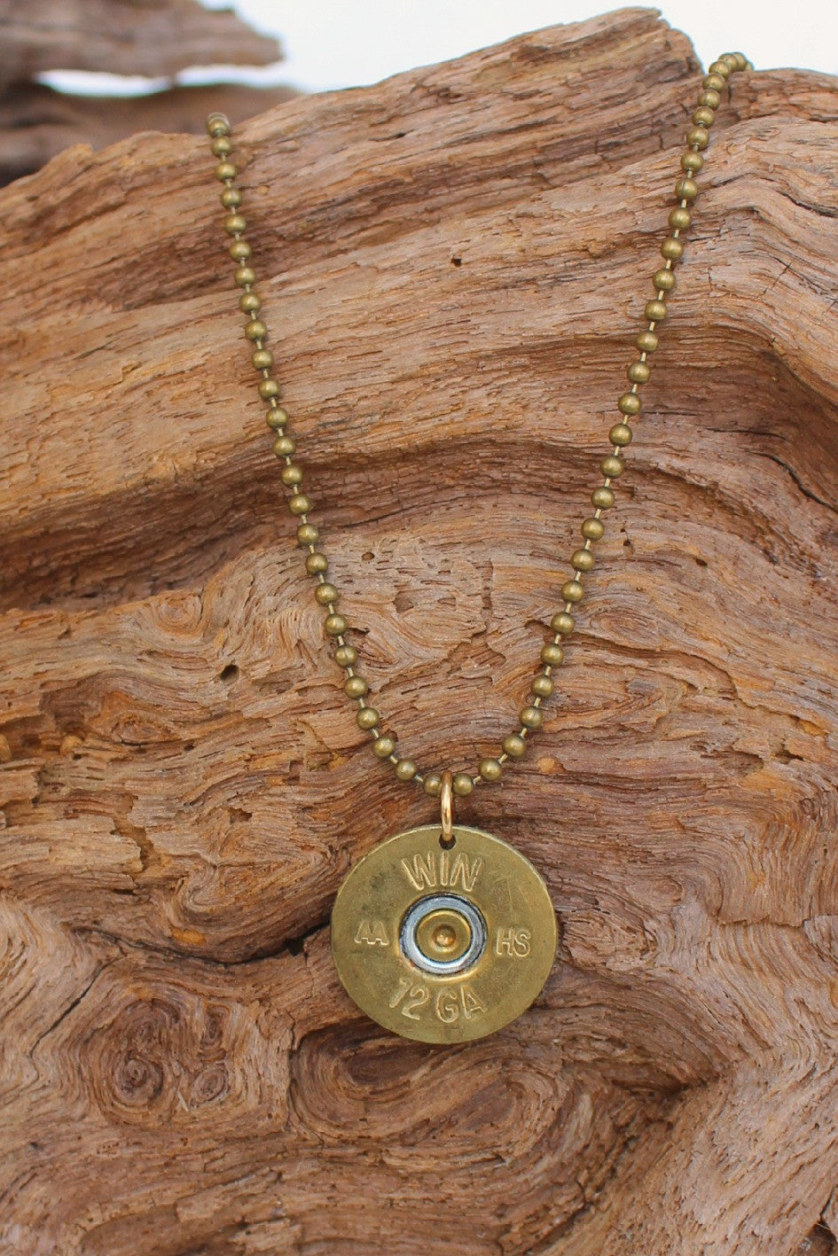 Lizzy J's Shotgun Shell Vintage Necklace, Gold