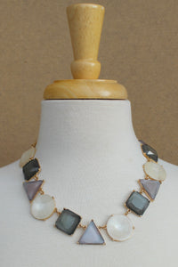 Shapes Necklace, Gray