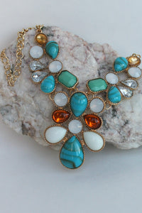 Teardrop Necklace, Multicolor