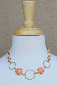 Rings and Beads Necklace, Melon
