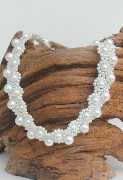Choker Pearl Necklace, White