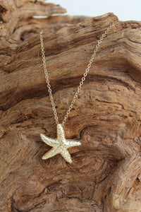 Starfish Necklace, Gold