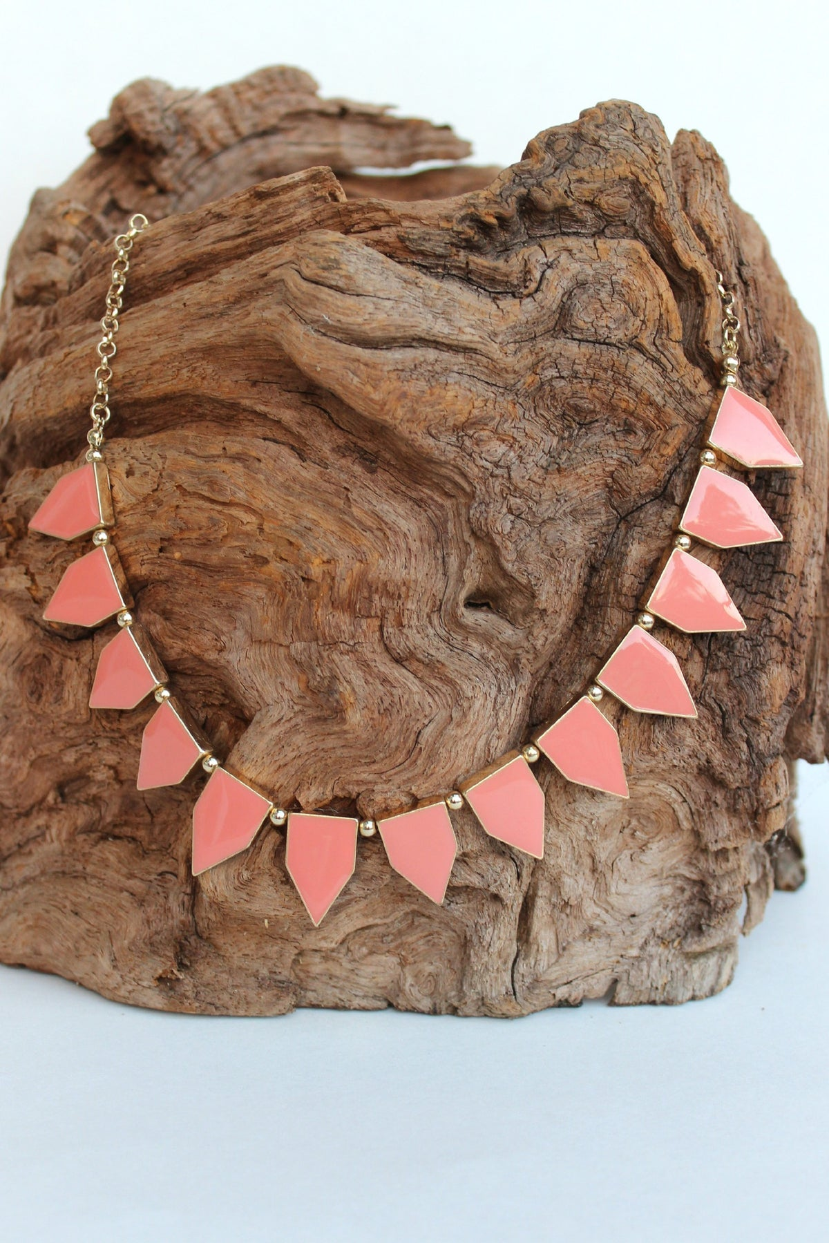 Trapezoid Resin Necklace, Melon