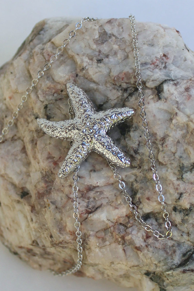 Starfish Necklace, Silver