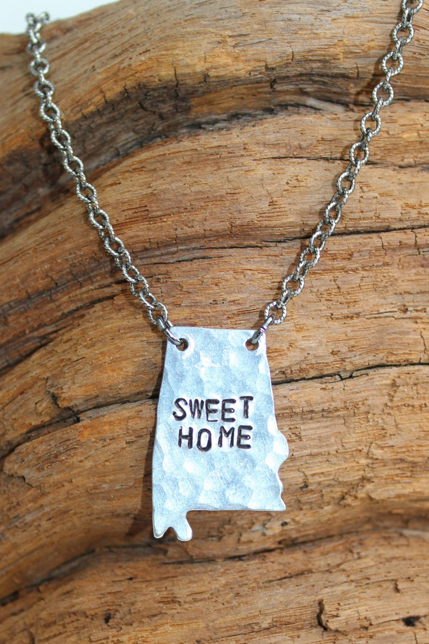 Julio: Sweet Home Alabama Necklace, Silver