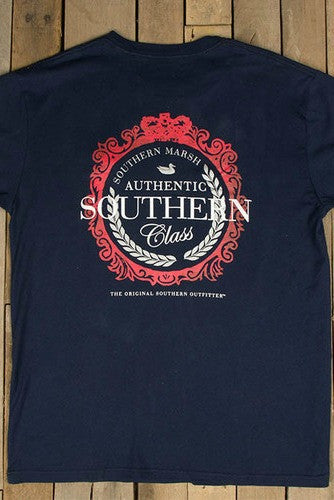 Southern Marsh: Southern Class Tee, Navy