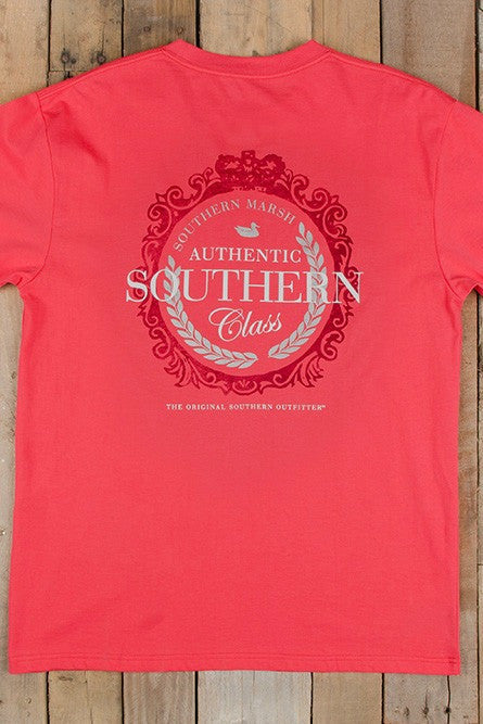Southern Marsh: Southern Class Tee, Strawberry