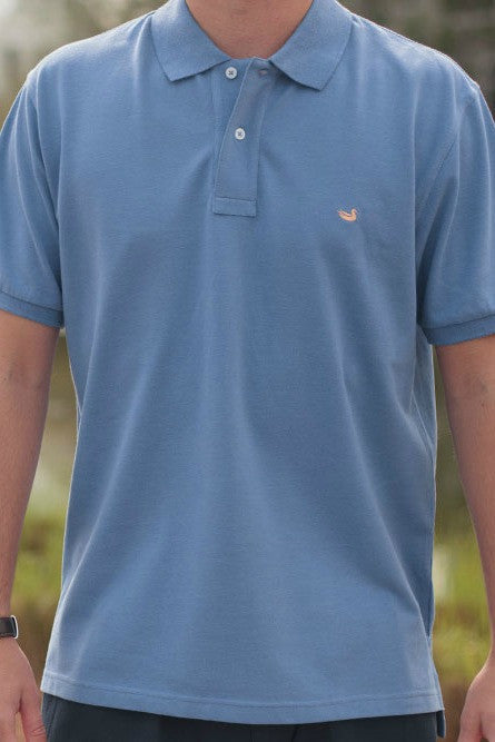Southern Marsh: Stonewall Heathered Polo, Washed Blue