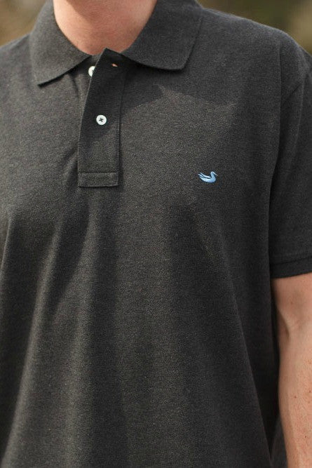 Southern Marsh: Stonewall Heathered Polo, Midnight Gray