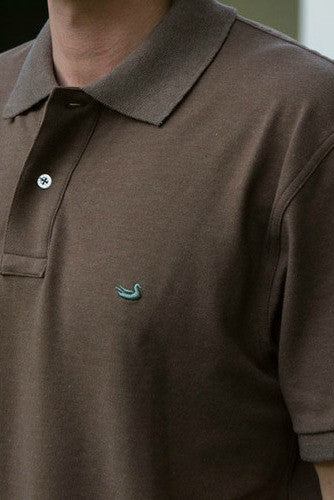 Southern Marsh: Stonewall Heathered Polo, Stone Brown