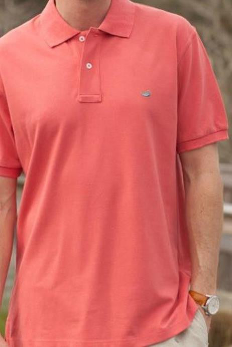 Southern Marsh: Stonewall Heathered Polo, Washed Red