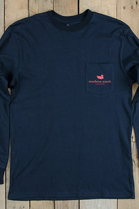 Southern Marsh: America Long Sleeve Tee, Navy