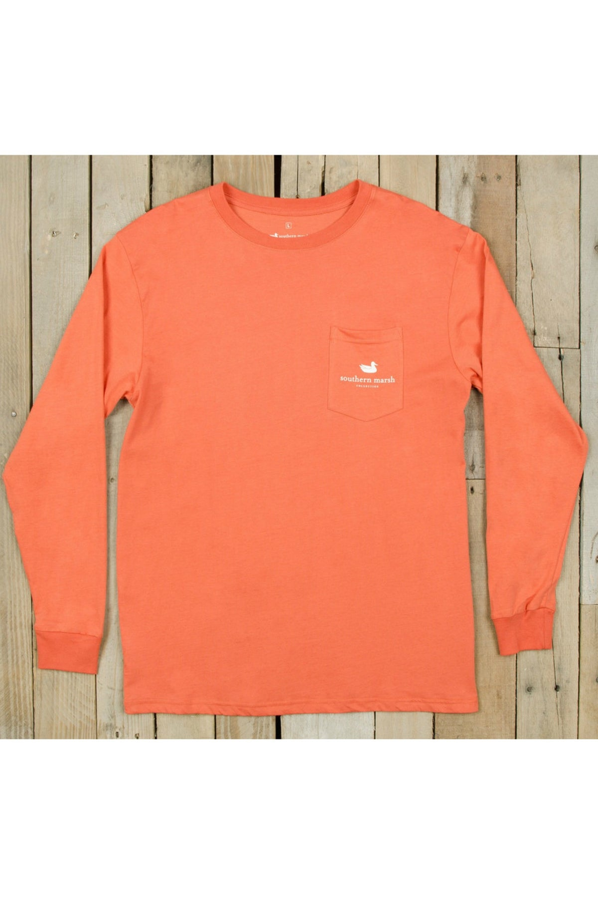 Southern Marsh: Field Hunt Long Sleeve Tee, Burnt Sienna