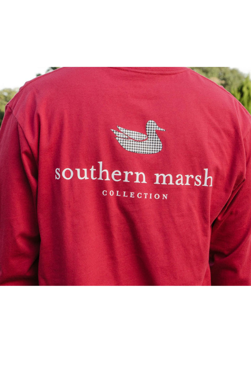 Southern Marsh: Authentic Collegiate Long Sleeve Tee, Crimson