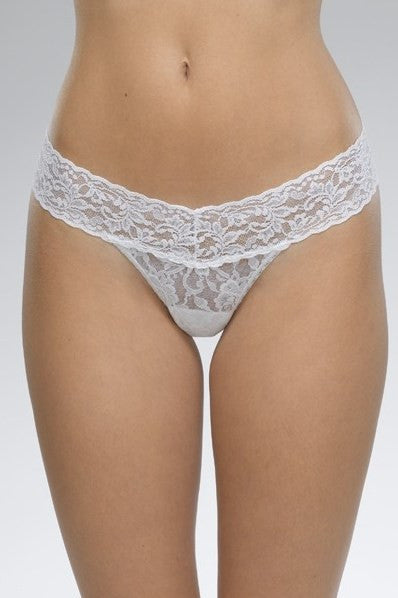 Hanky Panky: Signature Lace Low Rise Thong, White